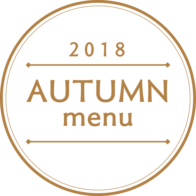 2018 AUTUMN menu