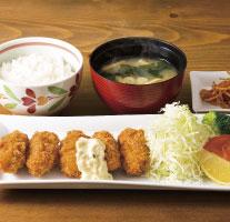 牡蠣フライ定食~広島県産牡蠣使用(ドリンクつき)