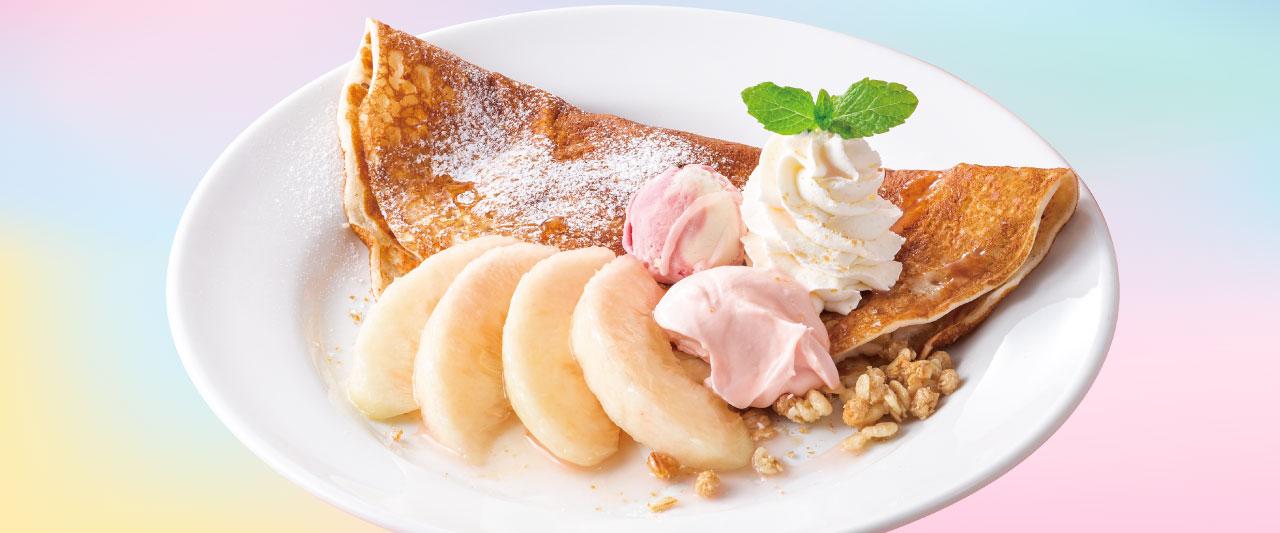 デニーズ桃デザート2021の販売期間は?カロリーや糖質もチェック!