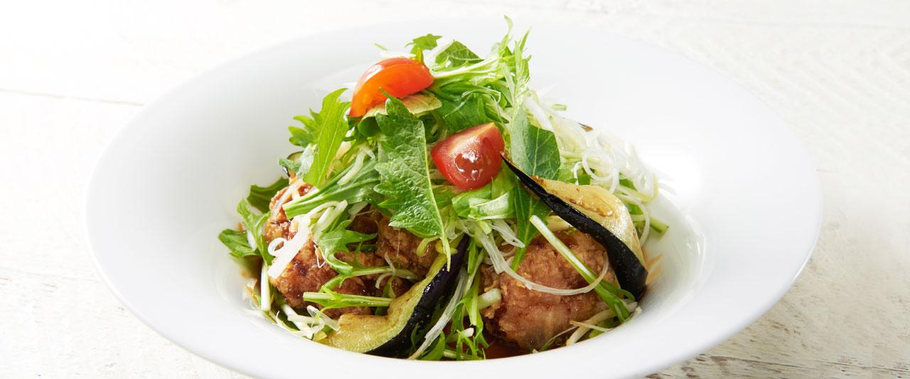 香味野菜の生姜醤油 鶏の唐揚げ